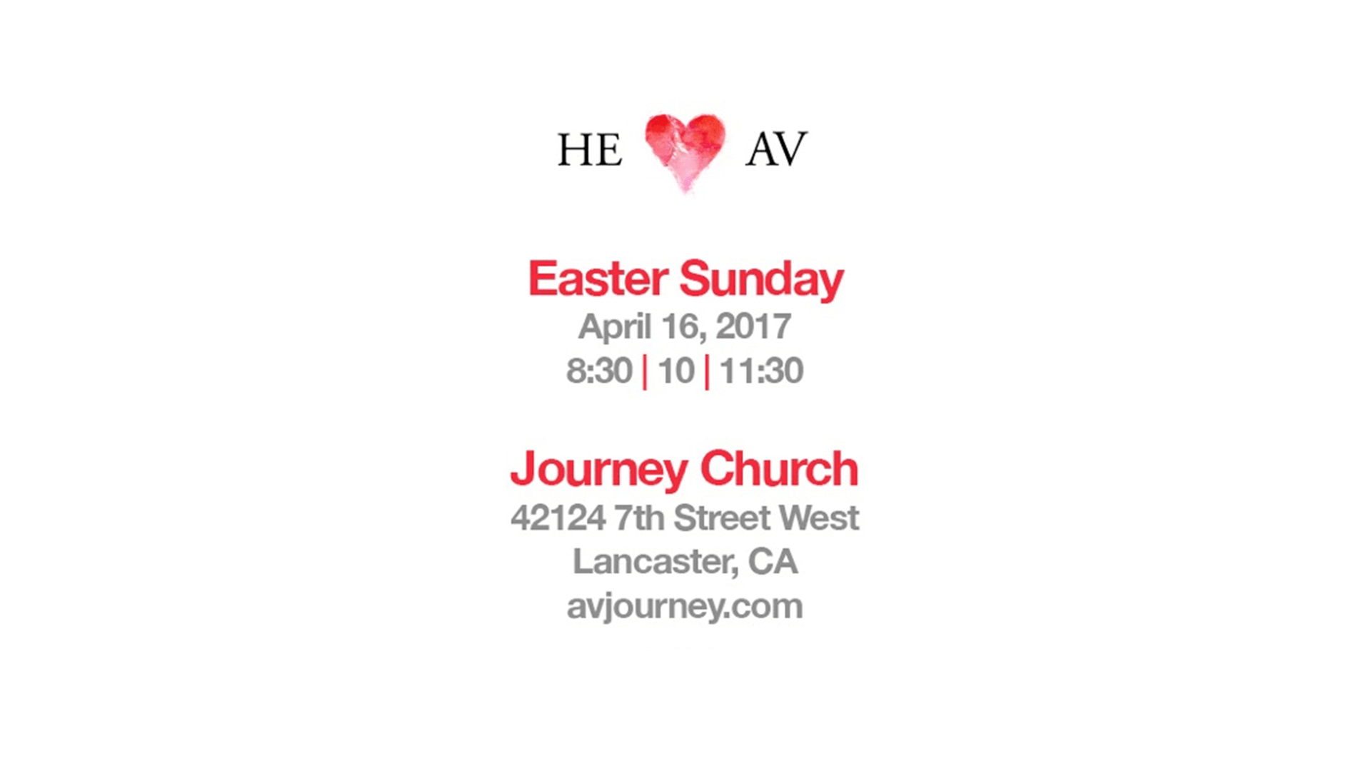 Journey Church: He Hearts AV